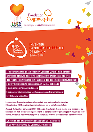 Document d'information Prix Fondation Cognacq-Jay 2018