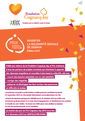 Document d'information Prix Fondation Cognacq-Jay 2019